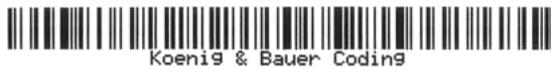 печать штрих кода маркиратором