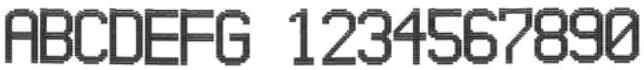 Пример печати текста каплеструйным маркиратором alphaJET mondo
